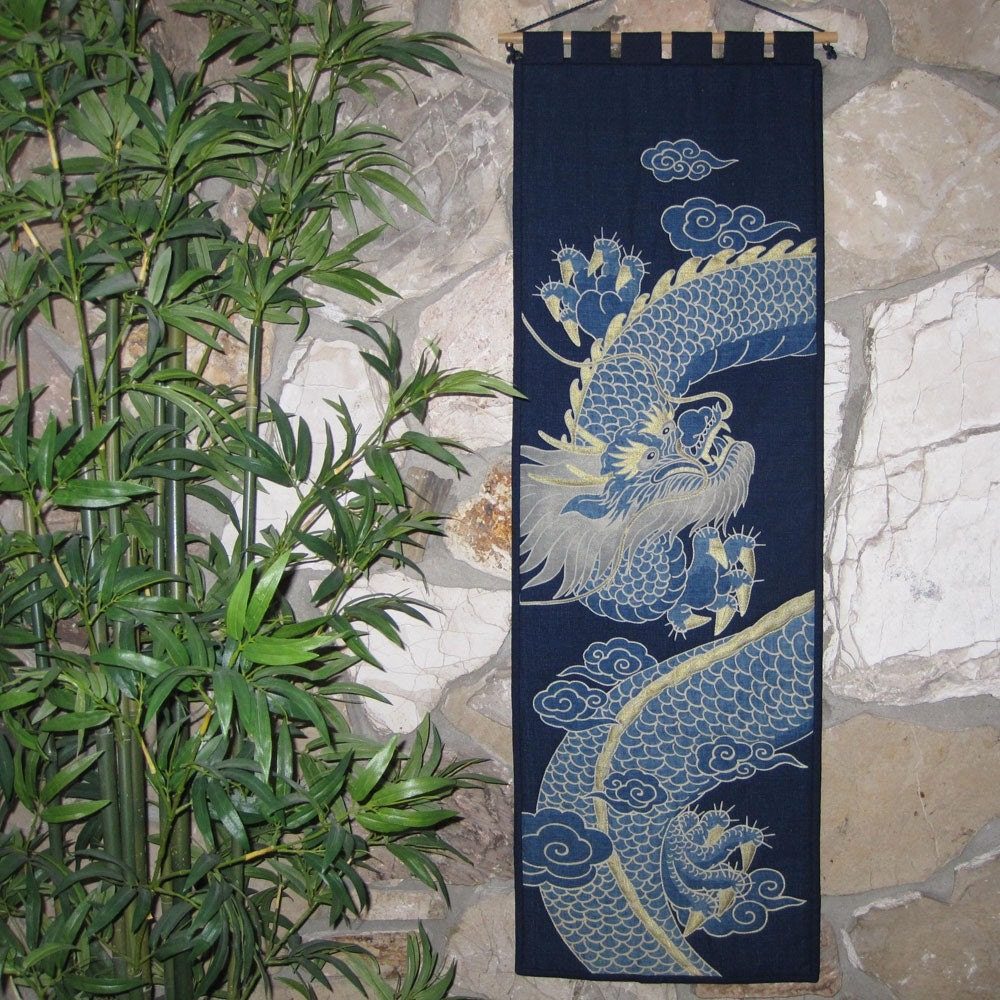 Imperial Dragon Japanese Asian Wall Hanging By