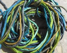 RAINFOREST COLLECTION Silk Cords, Hand Dyed Hand Sewn, 2-3mm Strings, Bulk Qty 10 to 100 Strings, Silk Cording, Great Jewelry Craft Cords