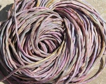 SEA SHELLS Pink Silk Cords, Hand Dyed and Hand Sewn Strings, Jewelry Cording Qty 6 to 24, Bulk Listing, Great Silk Wraps or Kumihimo Braids
