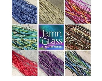 SILK CORDS Custom ASSORTMENT Hand Dyed and Sewn Cording, Qty 1 to 50 Strings Stringing Supplies Kumihimo Braiding Bracelet Wraps, Bulk