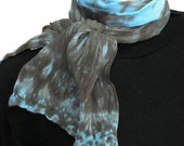 Ethereal Chocolate Hand Painted Silk Scarf