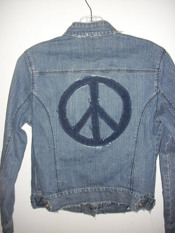 Recycled Jean Jacket Altered Couture
