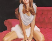 Vintage Pin-Up Girl - 1960s Calendar Photo - Winsome Smile - Mature Nude Print