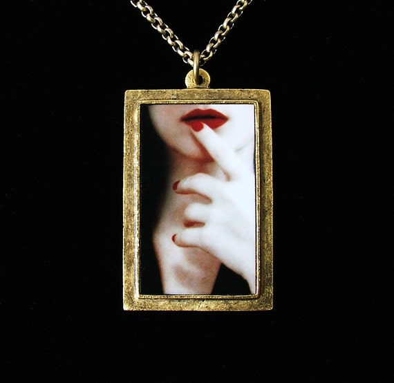 CLEARANCE SALE - Persuasion - Keep A Secret Photo Pendant Necklace