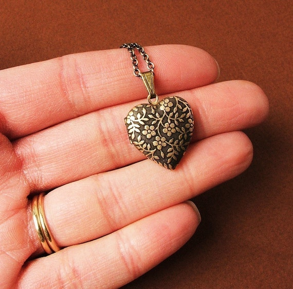 Forget Me Not - Tiny Heart Locket Necklace - The Perfect Stocking Stuffer