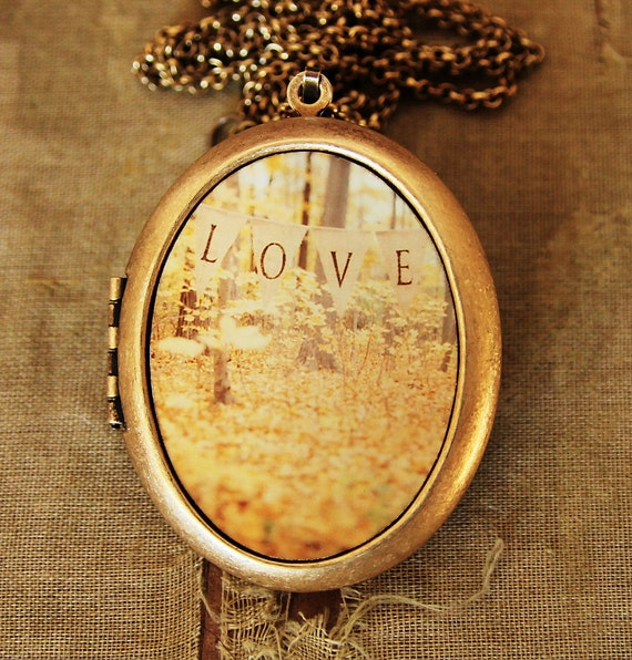 All Is Love - Romantic Love Photo Locket Necklace