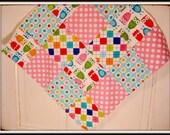I'm A Hoot in Bright----Mini Lap Blanket