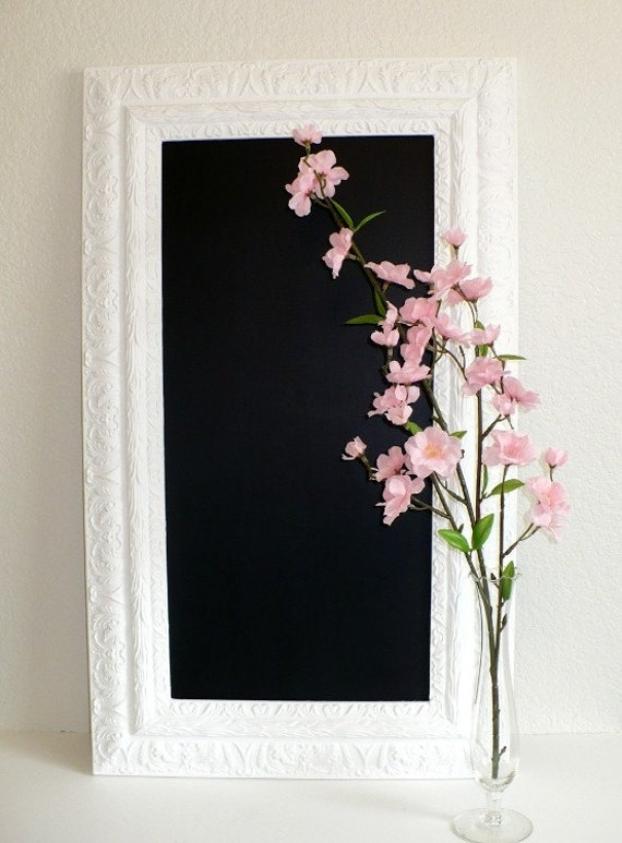 French Country Chalkboard White Framed Kitchen Blackboard