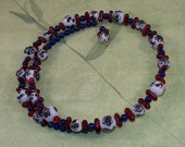 Homestead -- Glass and Ceramic Beaded Choker