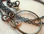 Sherlock Holmes Antique Optical Lens Long Necklace
