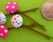 Baby Girls Fabric Covered Bobby Pins Set of 4