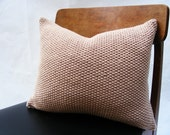 Hand Knit Cushion 40 x 40cm - Moss Stitch Ecru
