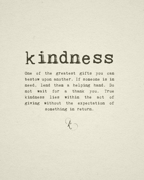 KINDNESS 8x10 Quote Art Print