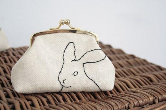 i miss you rabbit purse . monedero conejo