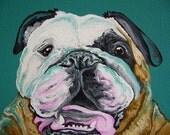 Custom Listing for Alexis - 2- 10 x 10 canvas Portraits Acrylic Gouache on Canvas -Carla Smale