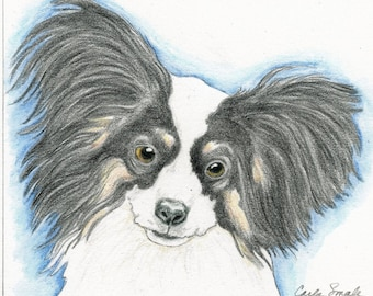 9 x 12 Original Custom Pencil Pet Portrait Dog Drawing-Carla Smale