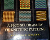 Vintage Book A Second Treasury of Knitting Patterns Barbara Walker
