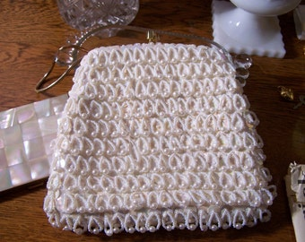 Vintage Handbag Pearl Beaded and Sequin