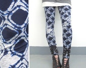 Luxe Collection Leggings - Navy Diamond Tie Dye