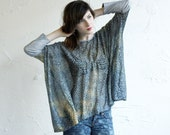 Box T - Sheer Burnout Jersey - Leopard - heather grey sleeves - One Size - Last One