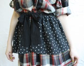 Chiffon Peplum, Black Peplum, Star Print, Black and White, Ruffle Belt, Tie Belt, Wrap Belt, Overskirt, Ruffles, Norwegian Wood