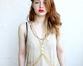 Gold tone Body chain with pyramid stud detail - iheartnorwegianwood