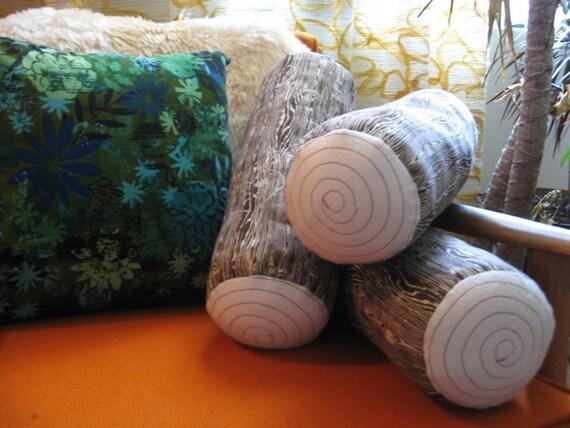 Woodgrain Log Pillow
