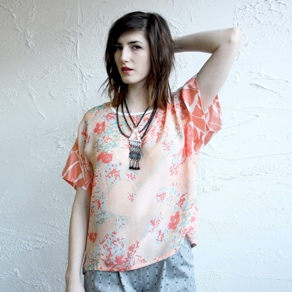 Slouch Tee - Chiffon and Rayon  -  Last One, Size L