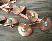 Crystal Flower Copper Necklace