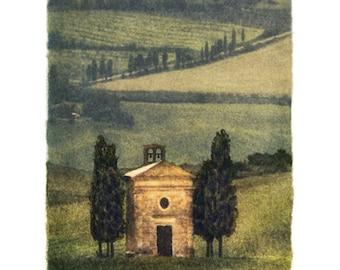 San Quirico, 4x5 Original, Signed, Fine Art Photograph
