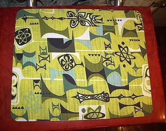 Mid century mouse pad atomic era retro vintage 1950's rockabilly mousepad
