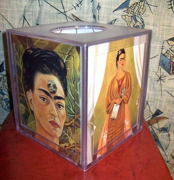 Frida Kahlo tissue box Mexico pop culture