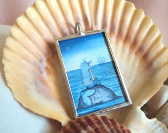 Alone Mermaid Pendant by Camille Grimshaw