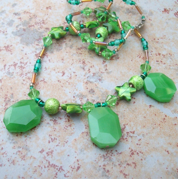 Clearance Verdigris Illumination Necklace // Gifts for Mom, Women
