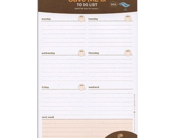 Save ME weekly to do list notepad