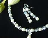 Wedding Necklace and Earrings Set - Brides or Bridemaids