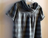 3T loose fit jersey knit, grey\/blue stripes