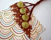 Last Chance\/Shop Closing \/\/\/ buttoned up \/ set of 4 gift tags