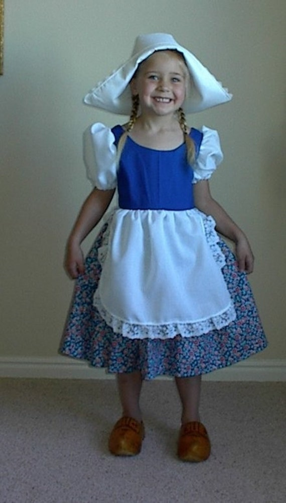 Cute Little Dutch Girl Costume Dress and Hat Cutedutch Nl