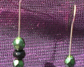 Green Monster Stick Earrings