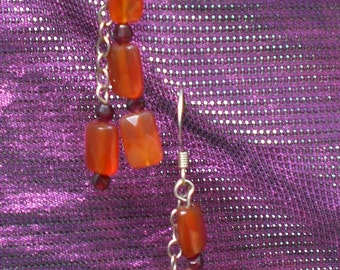 Carnelian and Garnet Earrings