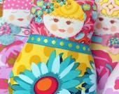 Shop closing sale - 40% off all items - refund upon payment - Scandinavian Matryoshka  Art Doll  - Fru Lillevik