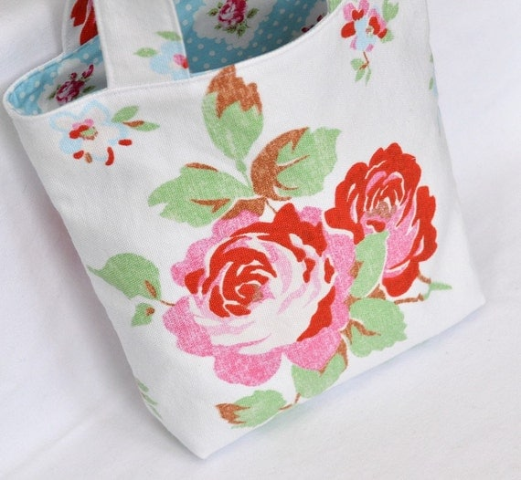 Perfect project tote bag with Cath Kidston fabric