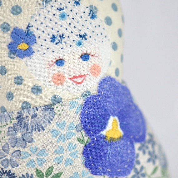 Scandinavian Matryoshka  Art Doll  - Fru  Holmedal