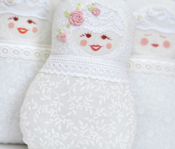 Lacy and Vintage Matryoshka art doll - Fru Stemland