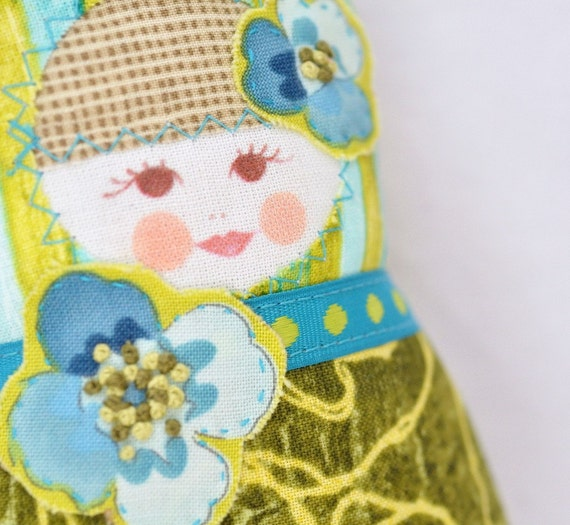 25% off entire shop - refund upon payment - Scandinavian Matryoshka Art Doll - Fru Gress