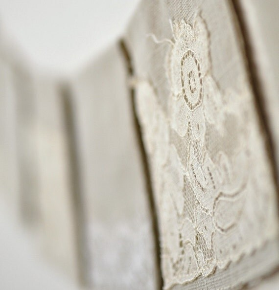 Vintage lace bunting