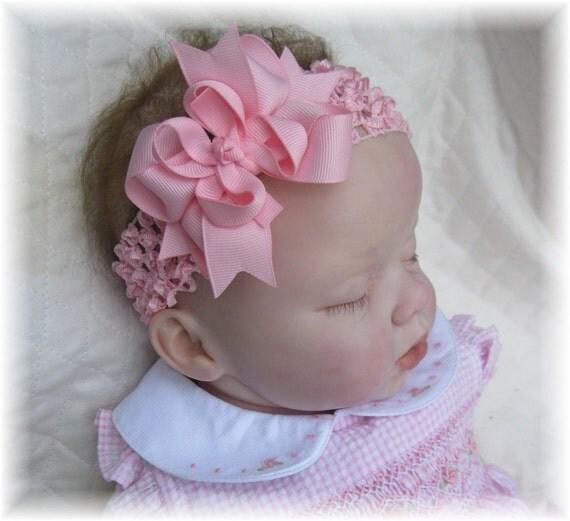 Pink Baby Headband Infant Hair Bow