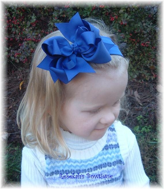 royal blue baby headband, school uniform bows, baby headbands, infant headbands, back to school bows, unique headband, exclusive bows, baby