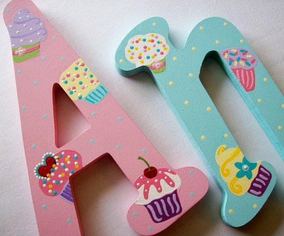 "Reserved for H 15"" Jester SINFULLY SWEET Custom Hand Painted Decorative Wooden Wall Letter"